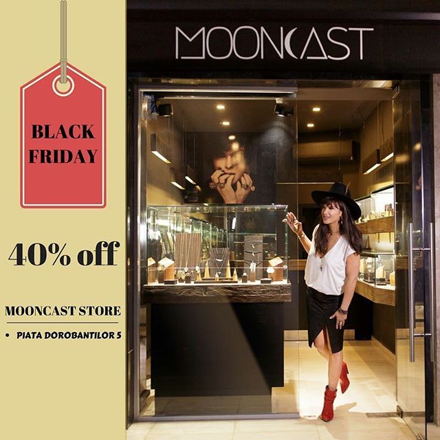 Black Friday at #MooncastStore from Piata Dorobantilor 5 (next to floraria Iris). 40% off on selected items between 24 and 25 November. #mooncastsales #mooncastjewelry #handmadejewelry