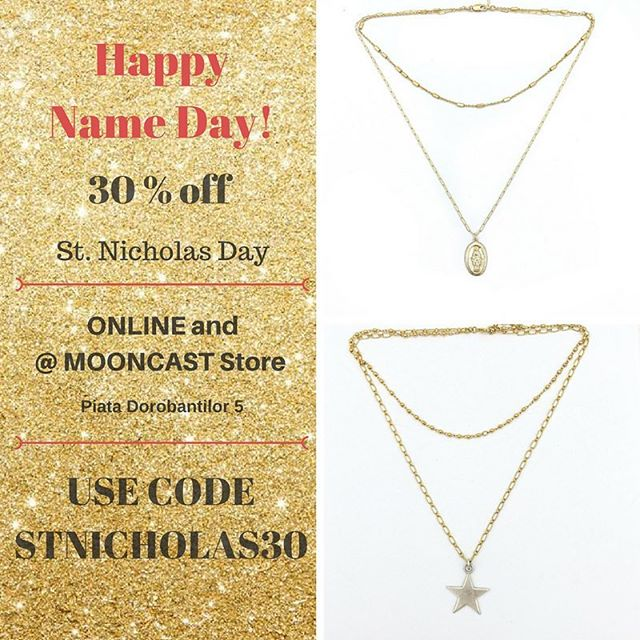 Let's start celebrating! 💥✨🥁 Use the code STNICHOLAS30 at checkout and enjoy the sales!You can also pay a visit at Mooncast Store tommorow. ❤️ 💃🏼#mooncastjewelry #stnicholassales #mooncaststore