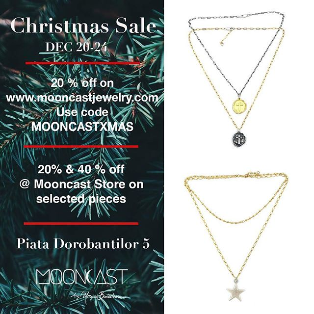🎁 Christmas Sale is ON 🎁 🎅 Shop online: https://www.mooncastjewelry.com/ 🎄 Go @ the #MooncastStore and check our sales on selected pieces #xmassales #christmassale #mooncastsale