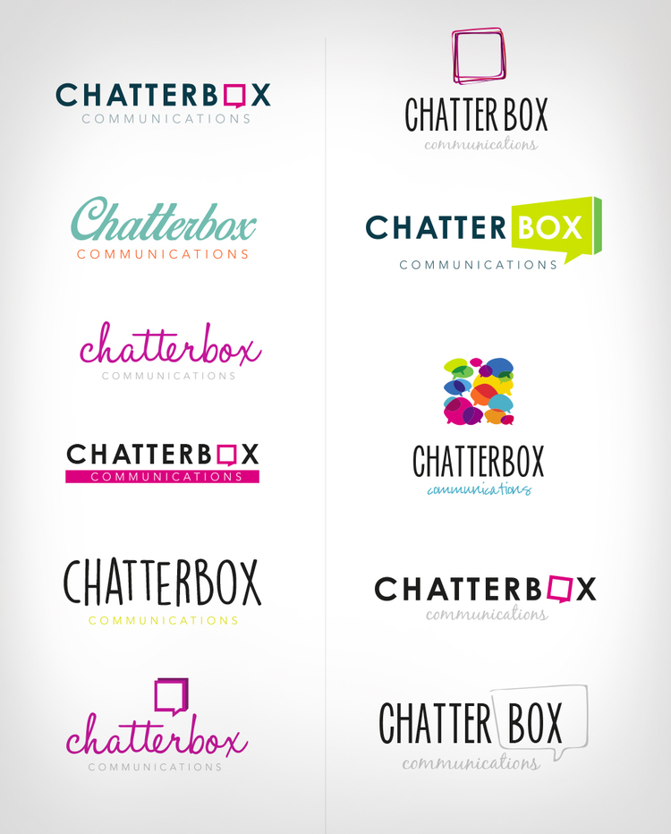 Olive Tree Creative - CHATTERBOX COMMUNICATIONS LOGO & BUSINESS CARD ...