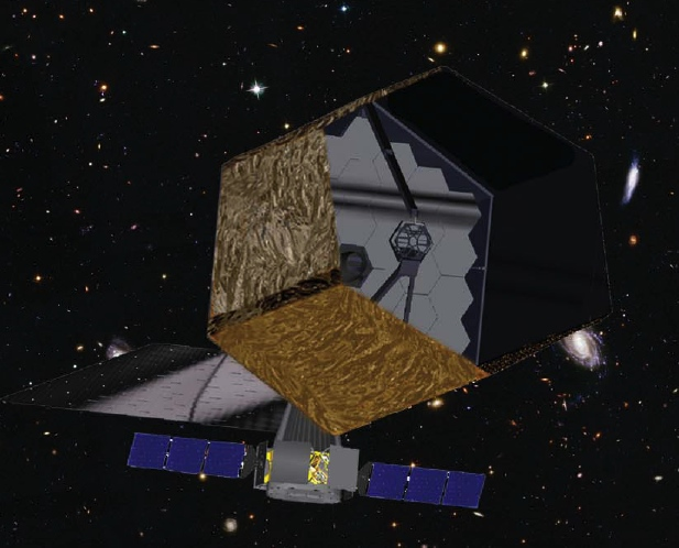 Figure 7: Design concept for a 16-meter space telescope (called ATLAST). Credit: Northrop Grumman Aerospace Systems & NASA/STScI.