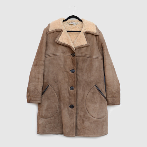 942928ef5d751 vintage-brown-suede-sheepskin-camel-wool-overcoat-antartex-