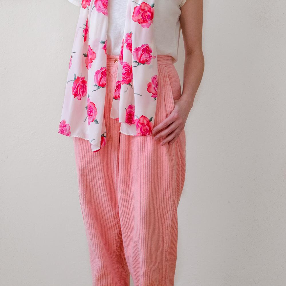 vintage-valentines-day-pink-corduroy-pants-rose-scarf-1.jpg
