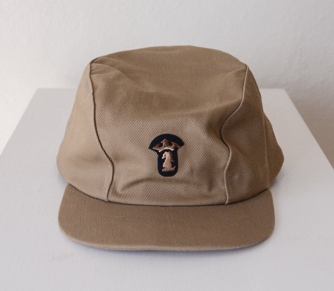Vintage Military Cadet Cap with Emblem — MOTH ODDITIES
