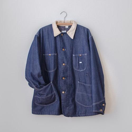 Vintage 1960's Lee Denim Work Jacket with Flannel Lining — MOTH ...