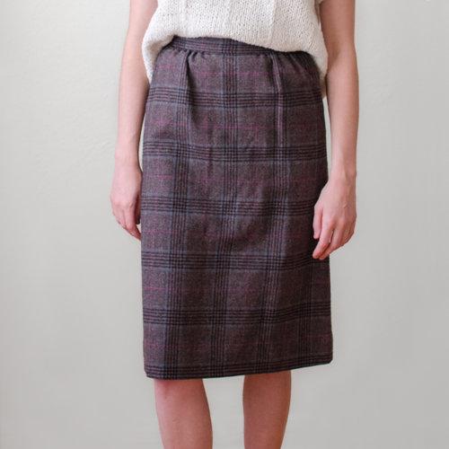 0c884dfde8 vintage-1960s-grey-plaid-wool-pendleton-pencil-skirt-