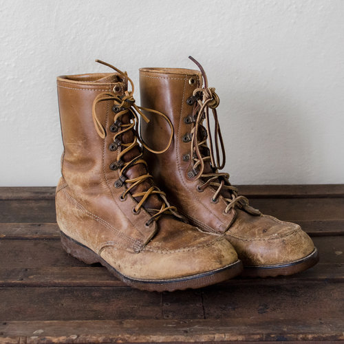 cbc2874ee26 Vintage 1960 s Leather Lace-Up Work Boots — MOTH ODDITIES
