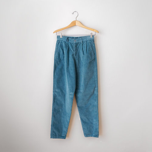 4b43856941 vintage-1980s-deadstock-young-generation-teal-corduroy-pants-