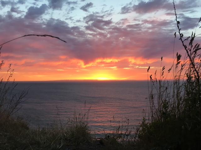 June sunset over the Strait of Juan de Fuca