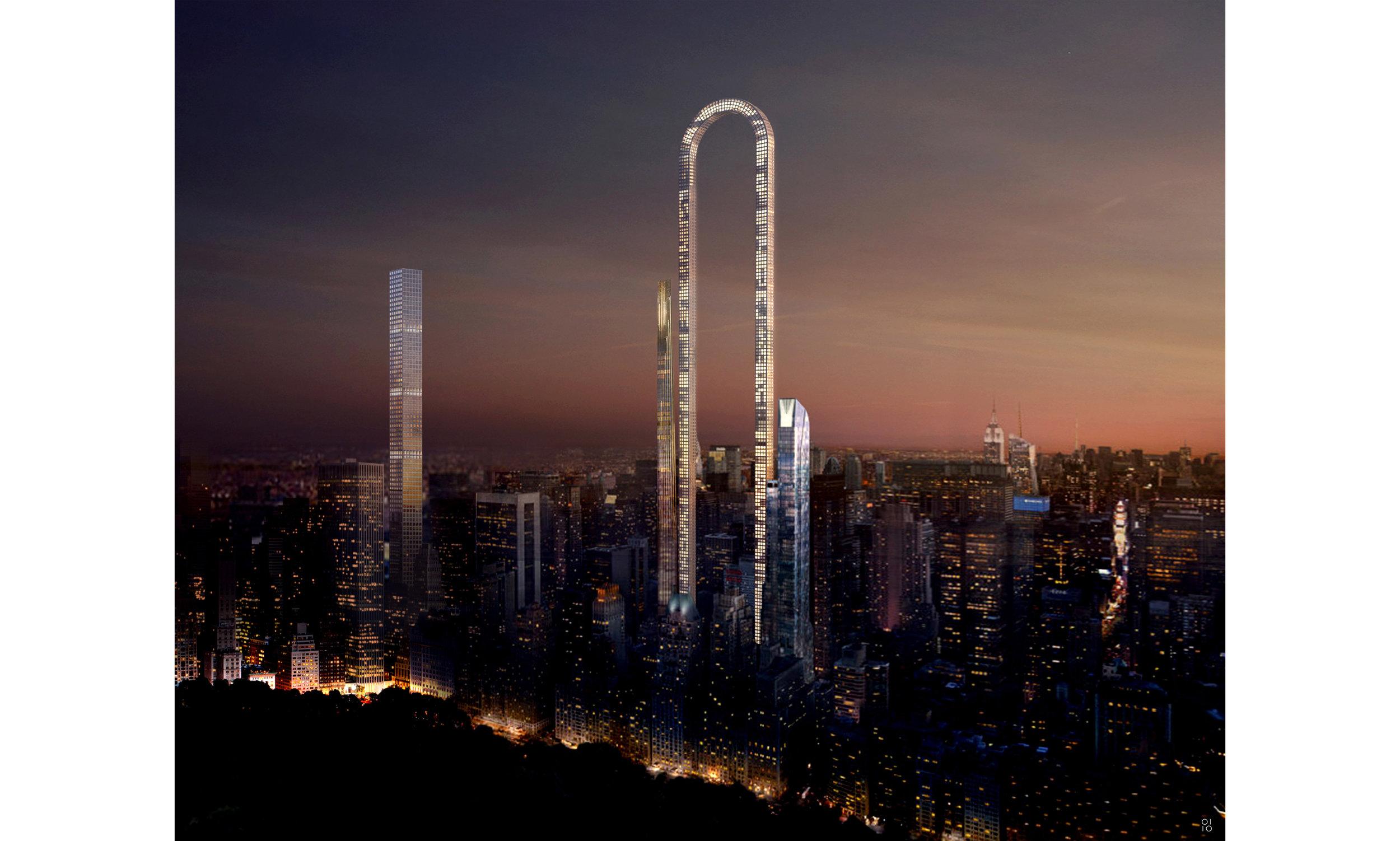 """New Yorks """"Big Bend"""" — Der längste Wolkenkratzer der Welt (Foto/ oiistudio)"""