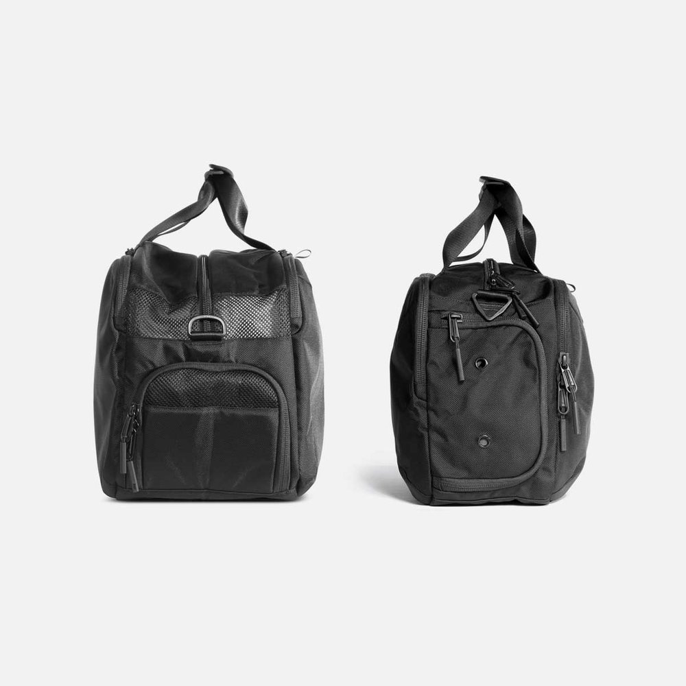 gym duffel 2 small black aer modern gym bags travel backpacks