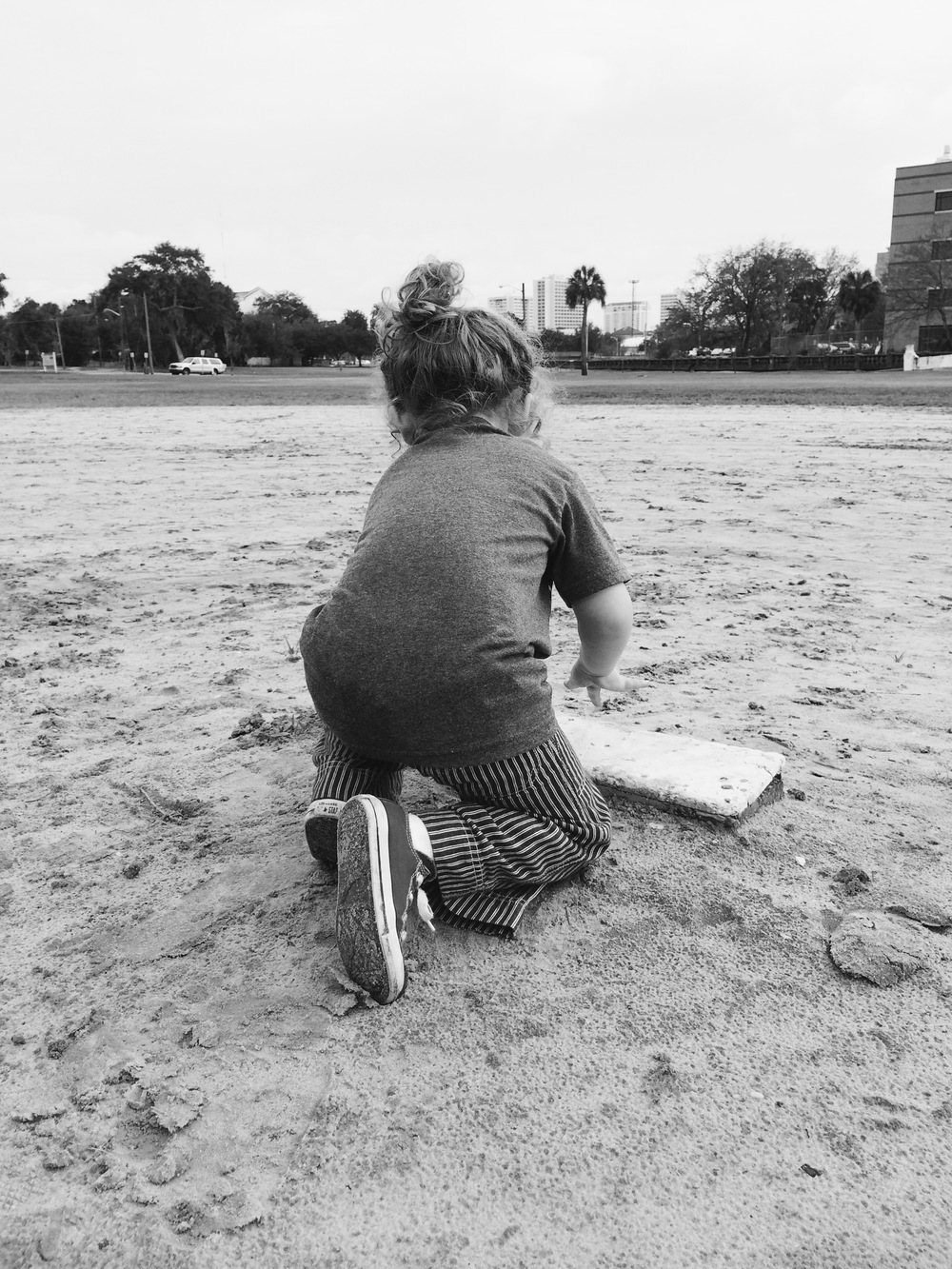 Henry on the pitcher's mound months ago. We live in Springfield and love walking here from our house.