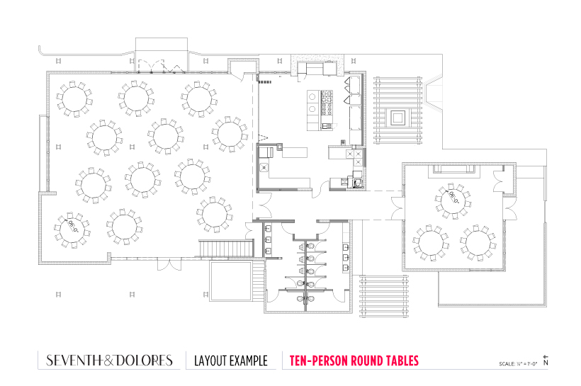 Layout Example: Ten-Person Round Tables