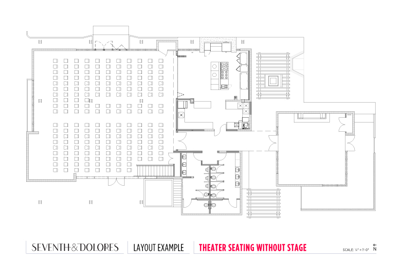 Layout Example: Theater Seating without Stage