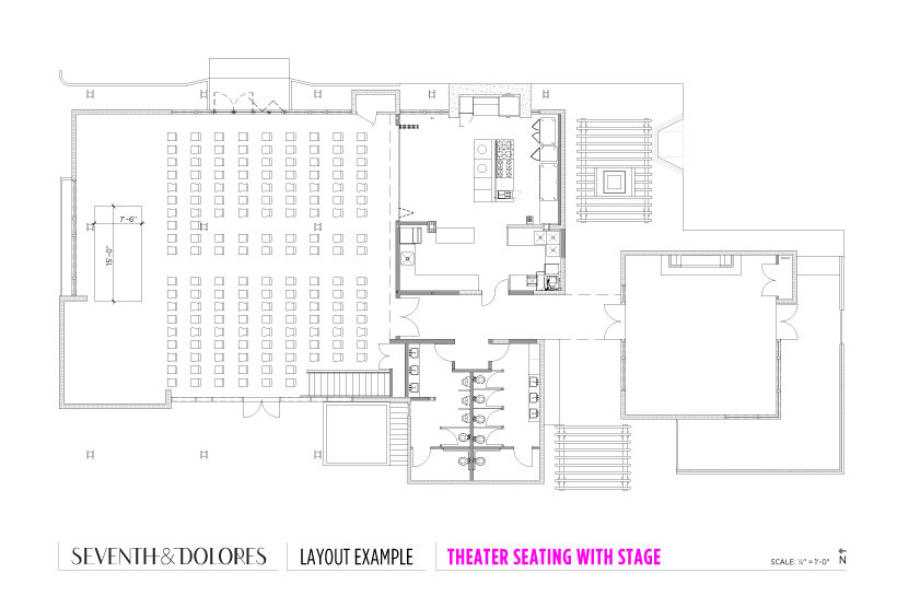 Layout Example: Theater Seating with Stage