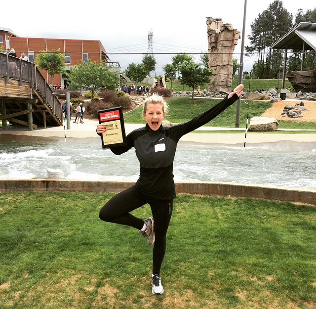 Jill celebrates Premier healthcare alliance being named the Healthiest Employer among large businesses in Charlotte-2015