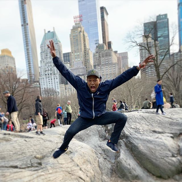 This guy is a tourist and he loves it. If you see him give him directions. #centralpark #nyc #fun. . . #newyorkcity #newyork #mondaymotivation #ny #instagram #instagood #dad