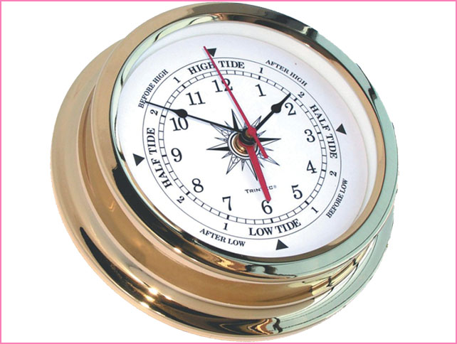 Tide Clocks  - Tide Timers are assembled in the USA by hand using the most accurate battery-operated quartz movements and will help you track high and low tide.