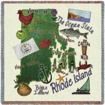 The Rhode Island throw is made in the USA and also available as a pillow. A great way to remember your time in Rhode Island. Machine washable.