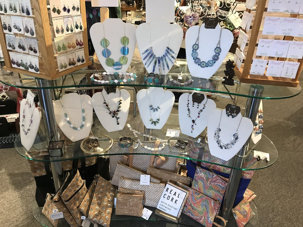 Lulabells, located in Wickford, RI, carries a variety of products including wall hanging, tableware and bags.