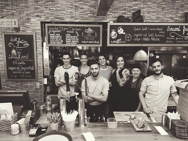 Don't even try to resist these faces. Last day of service! Serving brunch and dinner with full hearts today. Thanks for 6 awesome years #yyc. Come say farewell! #byebyeboxy #boxwoodyyc #yycnow #missualready #yyceats #xo 💛💕