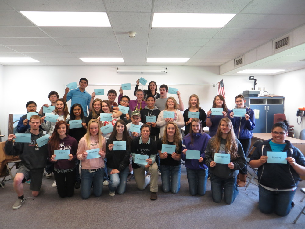 Leaders at Nooksack Valley High School taking a stand for what they believe in to create a connected and compassionate community.