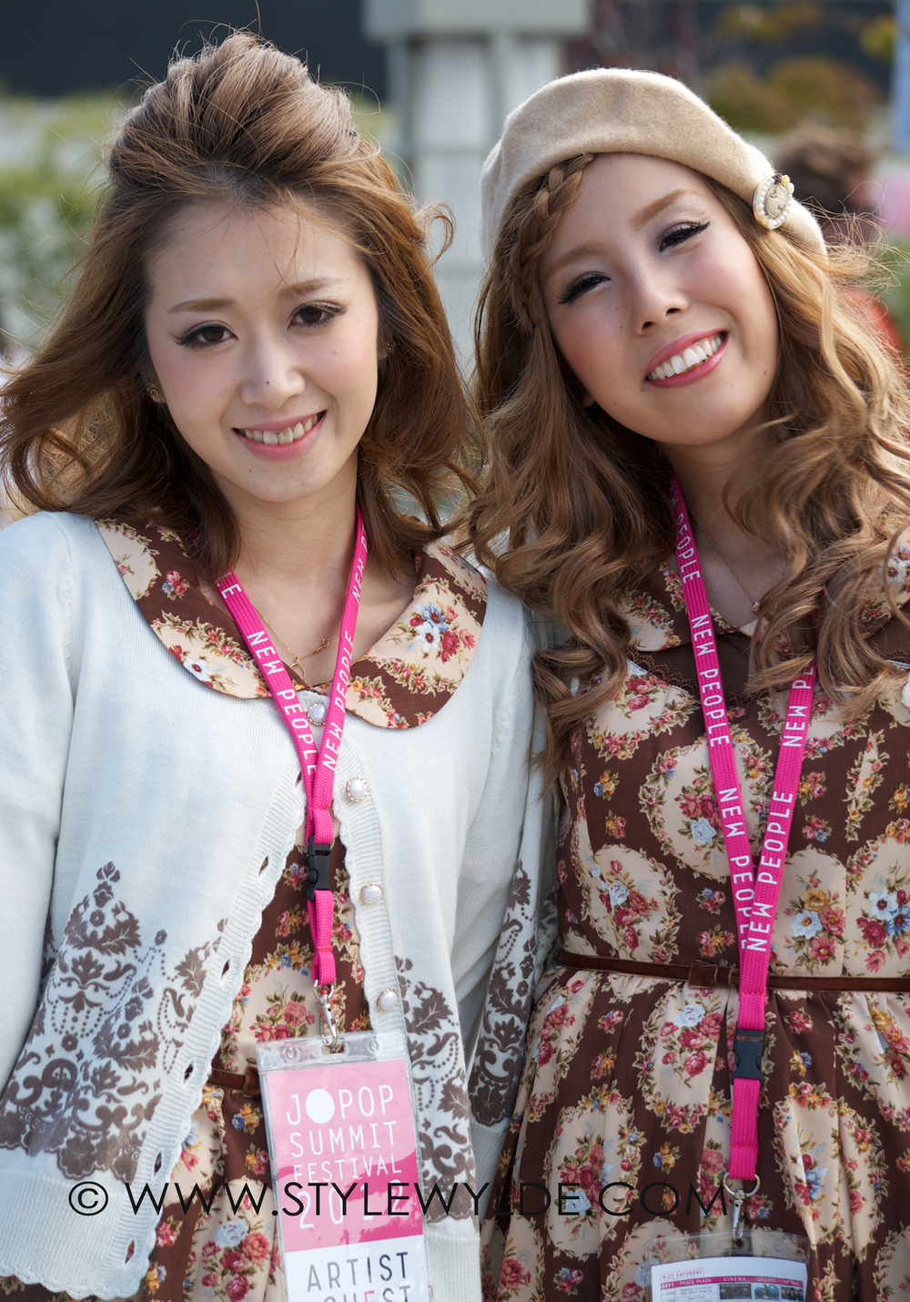 Designer Aino Owada (right) poses for Style Wylde before the show