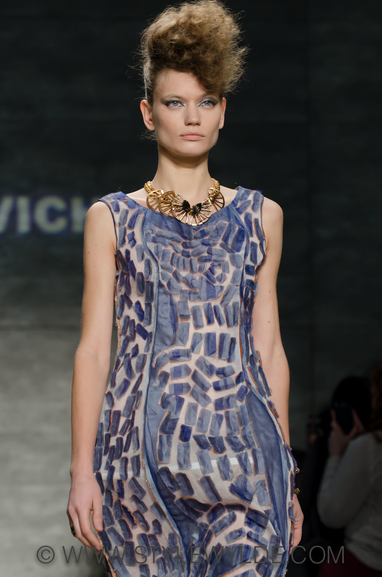 A look for the Katya Leonovich Fall 2014 Collection/Image: C.Hope for Style Wylde