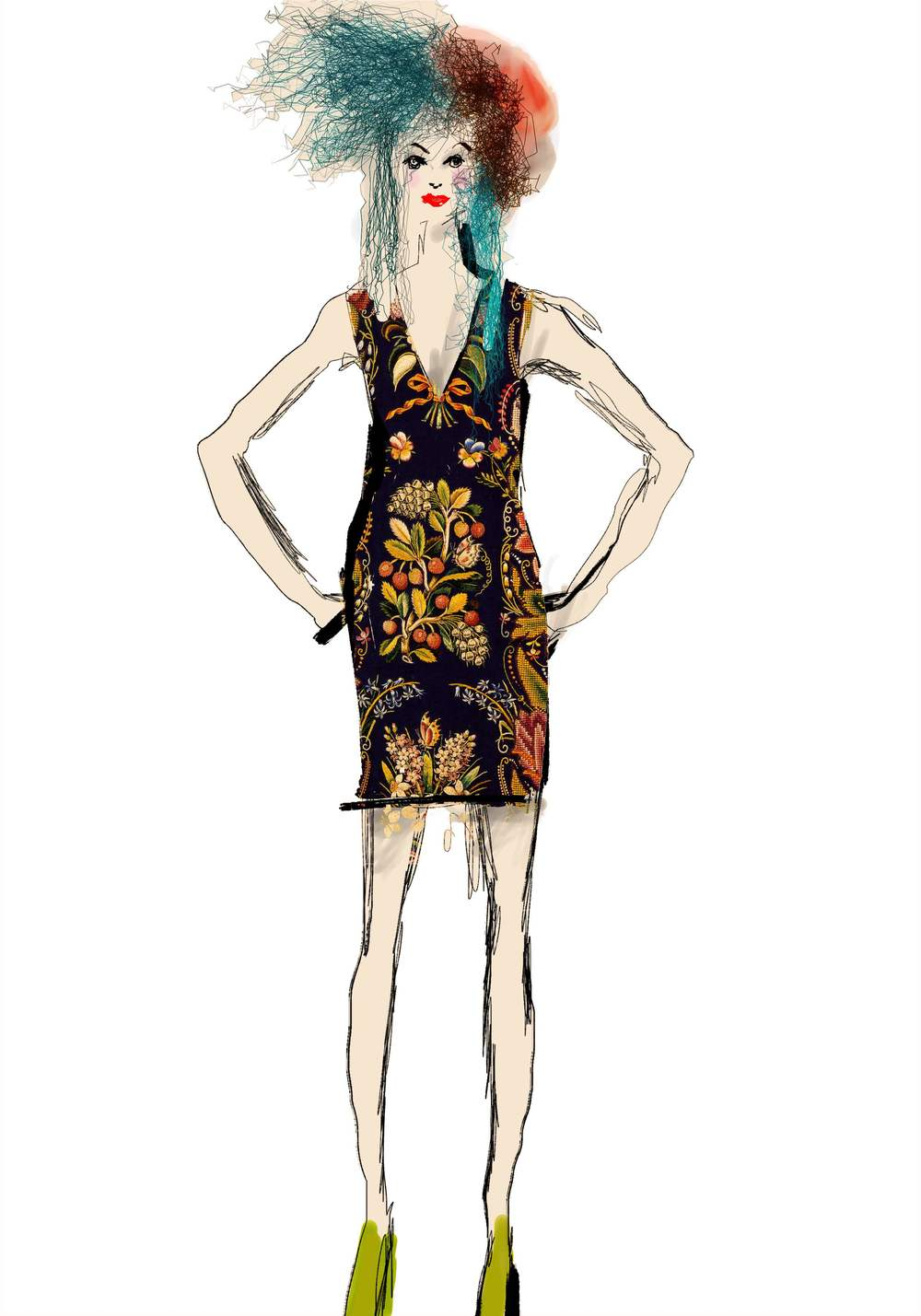 sketch courtesy of Christian Lacroix/ Desigual