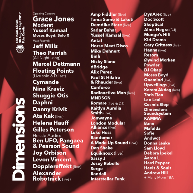 DIMENSIONS 2017 LINE UP