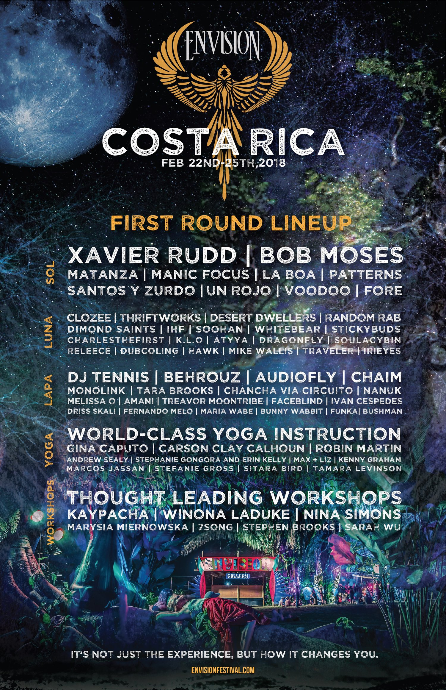 Envision Festival 2020 Lineup Envision Festival Announces First Round Lineup for Event in Costa