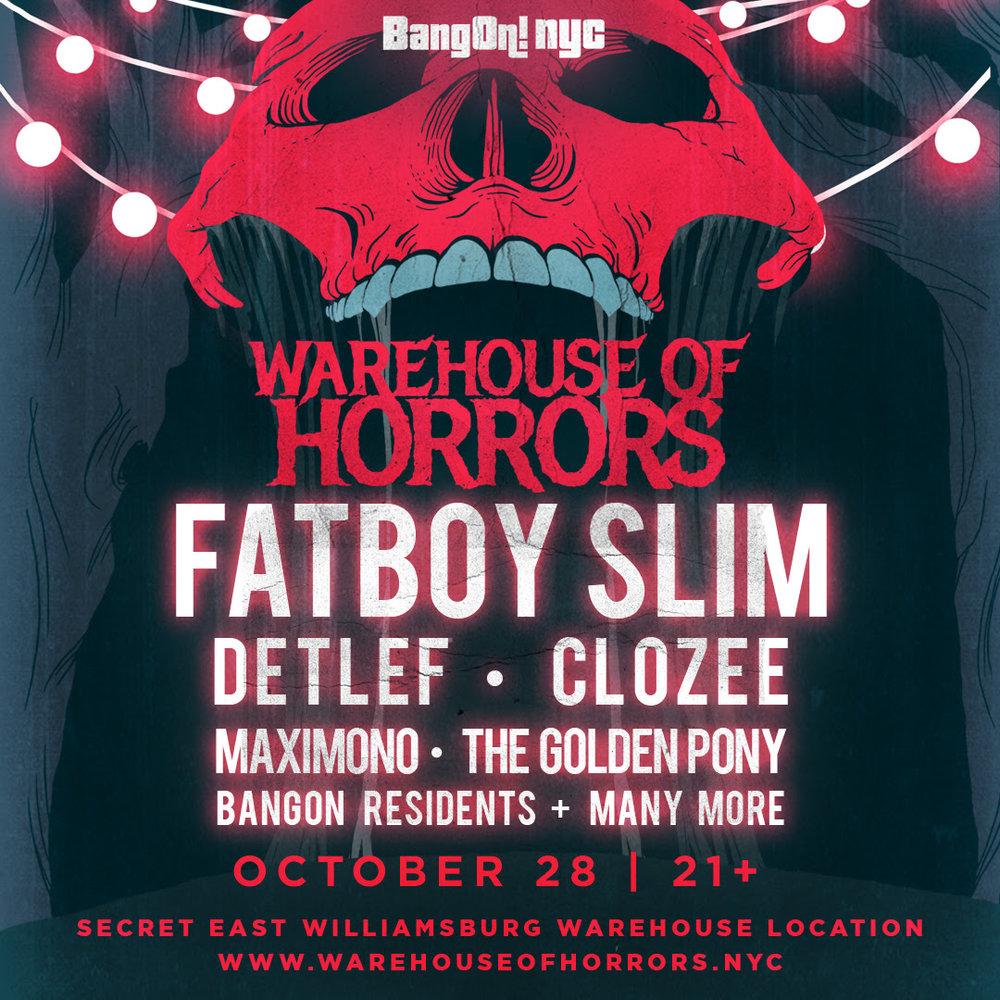 Bangon!nyc Warehouse of Horrors flyer
