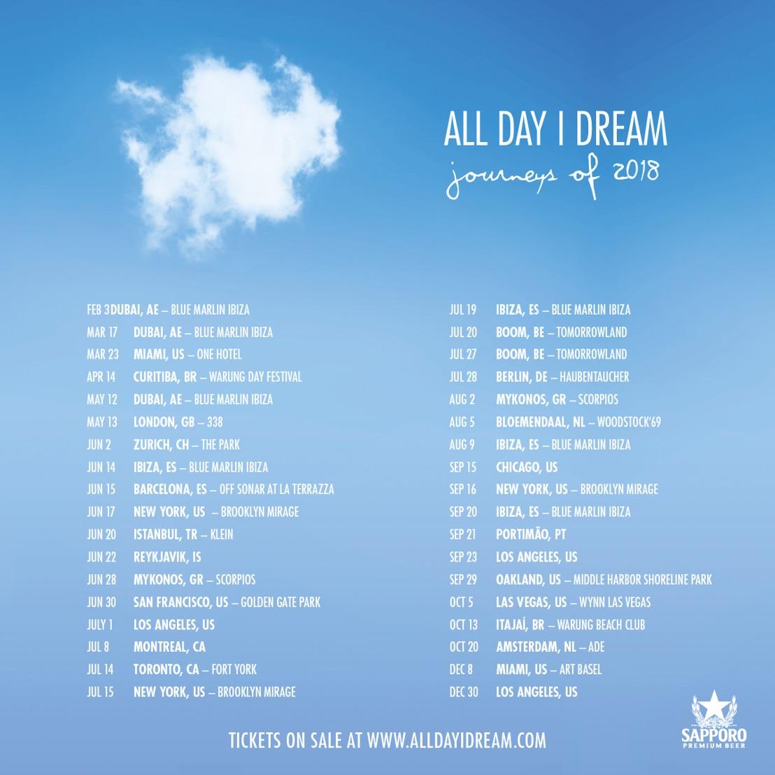 All Day I Dream 2018 World Tour Journeys Of 2018