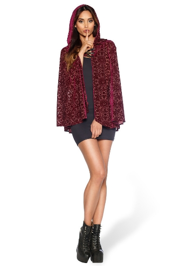 BURNED VELVET REGAL RED CLOAK -  $140.00 AUD