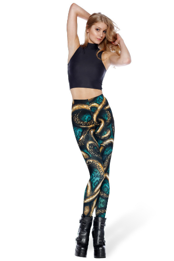 WALLPAPER KRAKEN HWMF LEGGINGS -  $75.00 AUD