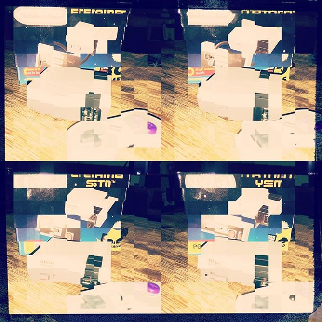 I think I over modded it #deconstructed #cubism #hipstamatic #nes #gaming #8bitbitches