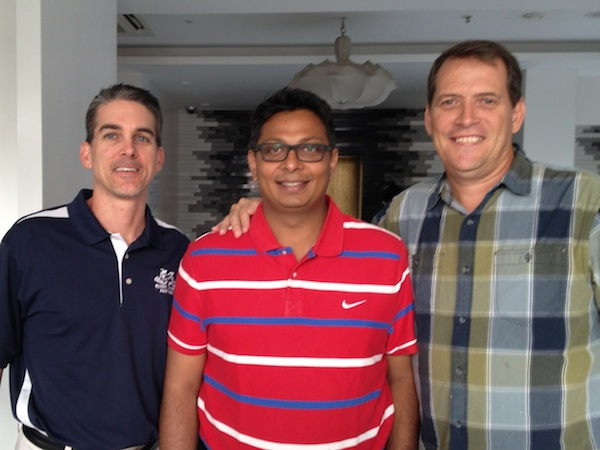 Mr Ken Touchton, GSP Director of Operations; Mr Vinod Muthukumar, Elevate Basketball; Mr Joel Williams, GSP India Representative.