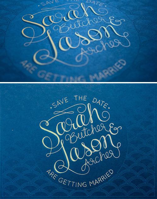 Sarah & Jason  | design and screen printing