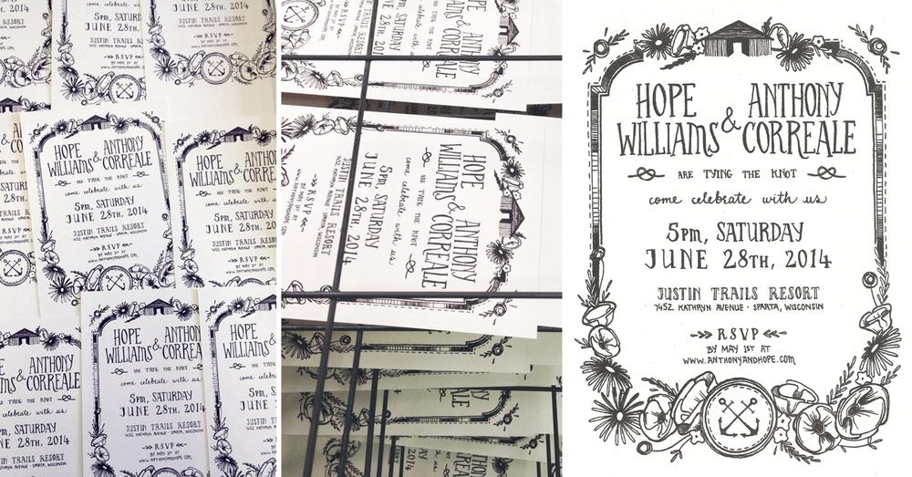 Hope & Tony  | design and screen printing