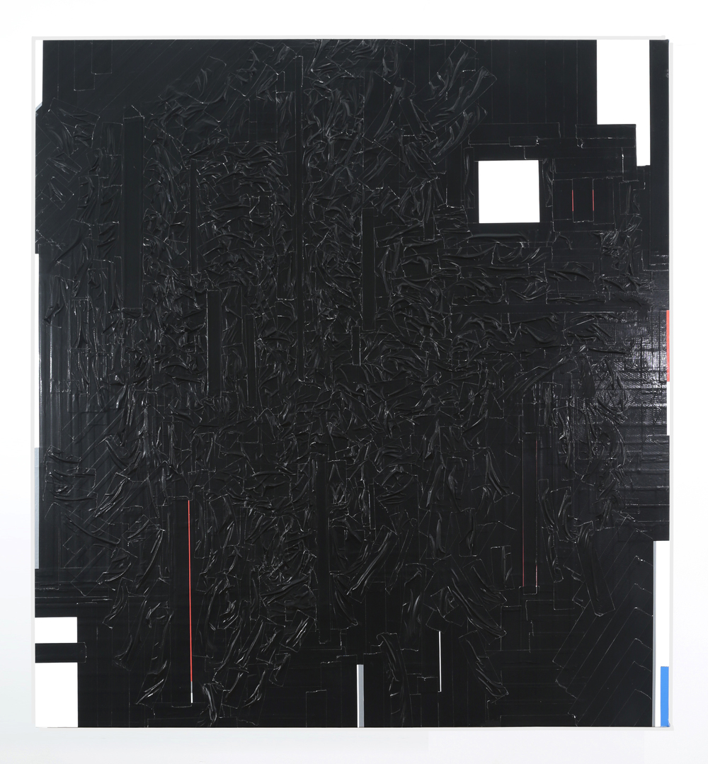 Duct Tape Painting (Black), 2014
