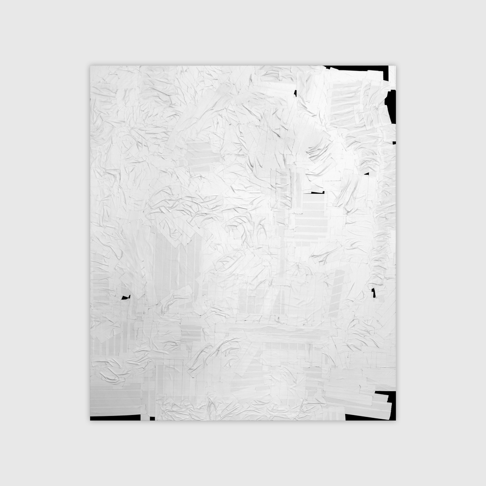 Duct Tape Painting, (White), 2013