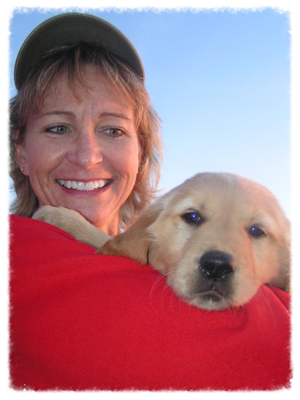 Cheryl and her dog kid Mailea