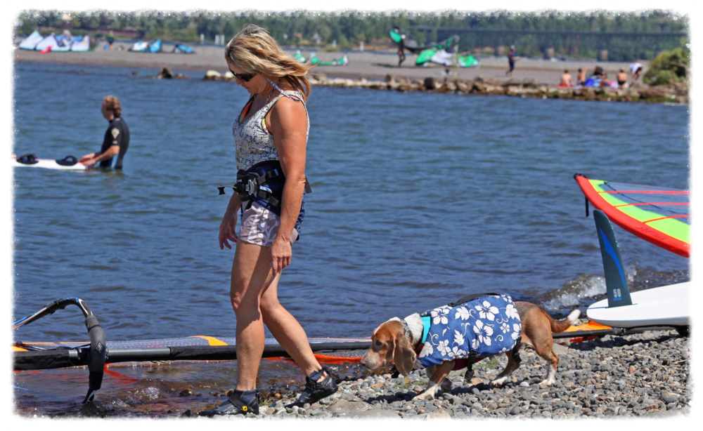 Dog mom Barb and her 3rd generation surf dog Dude