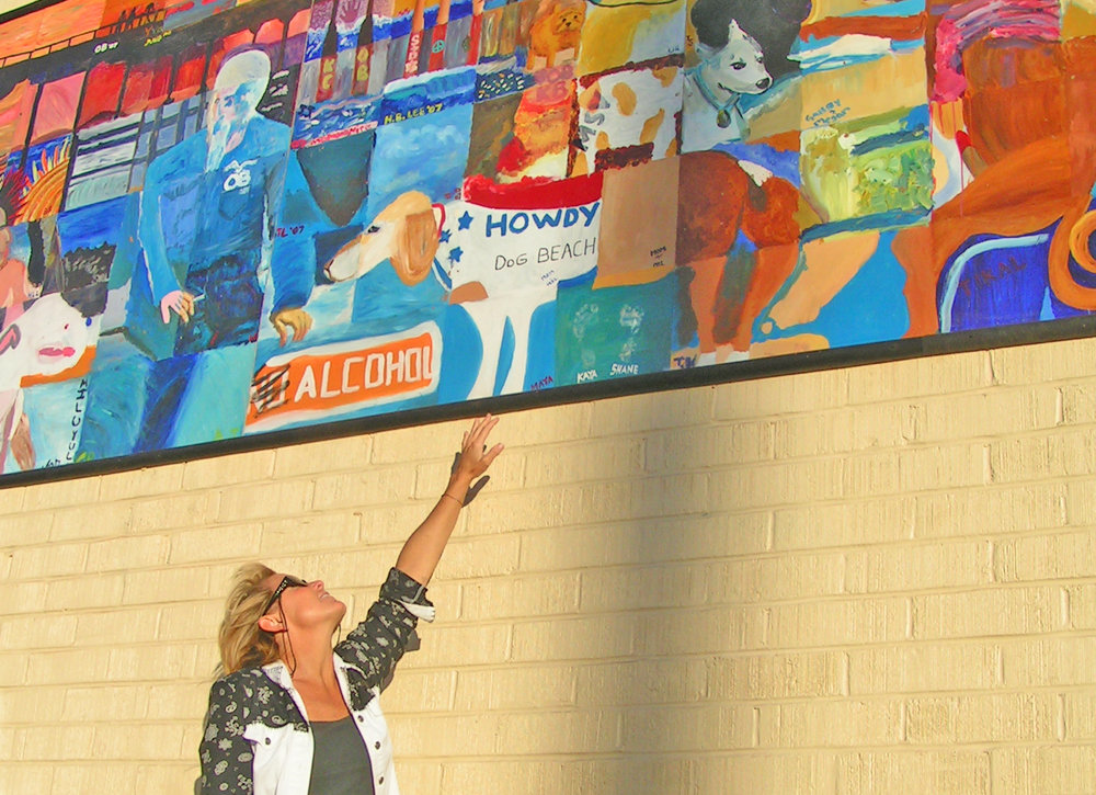 Howdy's legacy lives on - in my heart, at Dog Beach - and in this mural on OB's main drag, Newport Avenue, next to Newport Antiques. Photo: Pat Brown.
