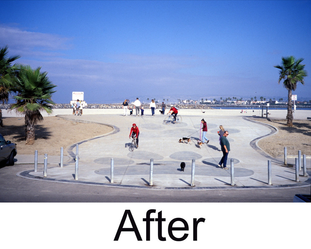 2000, after the Dog Beach Improvement Project .   Photo: (c) Barb Ayers, DogDiary.org
