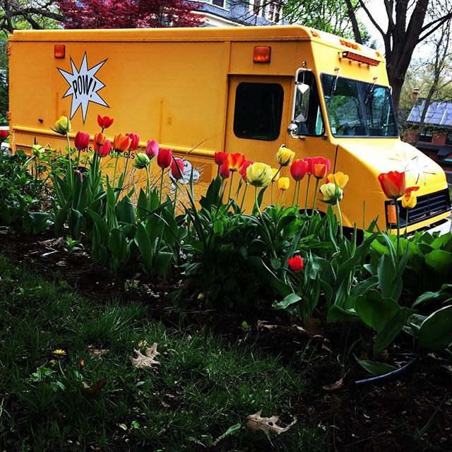 Tiptoe through the tulips with the POW! Truck #happymothersday Come see us in Boston May 19 5-8pm on the Rose Kennedy Greenway #blockparty !