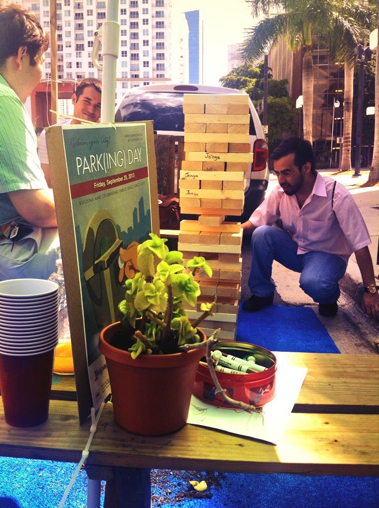 Giant Jenga at Park(ing) Day 2013