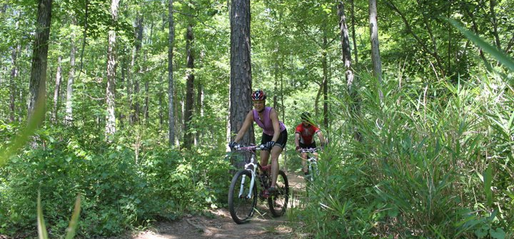 Mountain biking at Amelia - image courtesy Mountain Bike Mike
