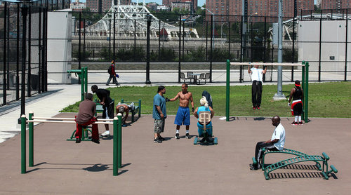 Adult Playground in the Bronx - image courtesy NYT