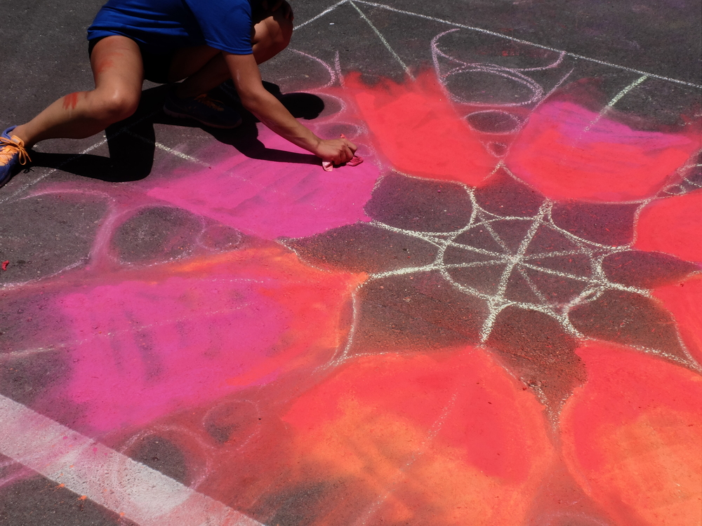 Chalking in neon brights! - Photo courtesy James Sweet